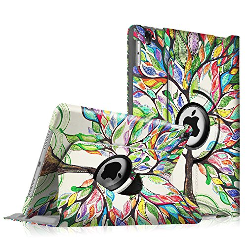 Fintie iPad Pro 9.7 Case - 360 Degree Rotating Case with Smart Stand Cover Auto Sleep/Wake Feature for Apple iPad Pro 9.7 inch (2016 Version), Love Tree
