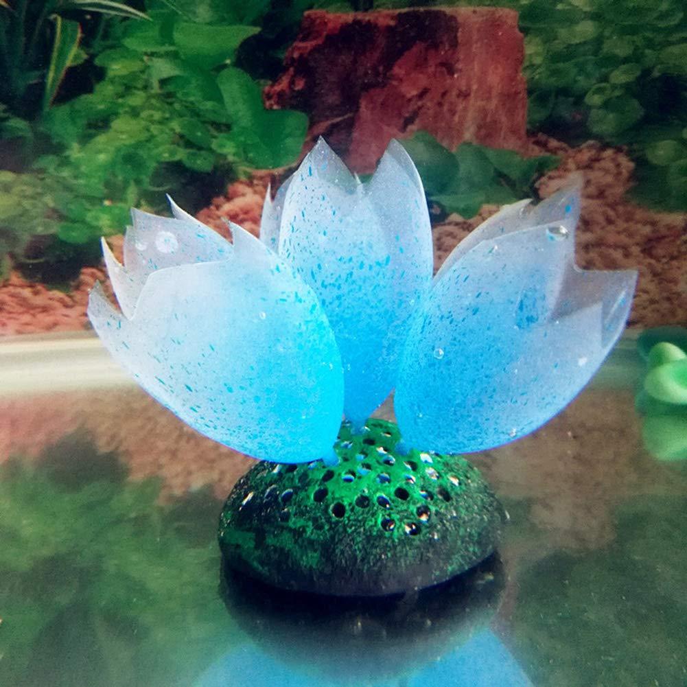 Rubyyouhe8 Decoration,DIY Ornament,Silicone Glow Artificial Fish Tank Aquarium Coral Bubble Plant Ornament Decor Display Model