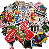 Sticker Pack [100pcs] - Sanmatic Sticker Decals Vinyls for Laptop - Cars - Motorcycle - Bicycle - Skateboard Luggage - Bumper Stickers Hippie Decals Bomb Waterproof ... (D)