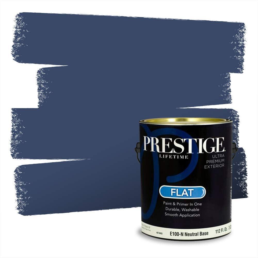 Amazon Com Prestige Paints Exterior Paint And Primer In One 1 Gallon Flat Comparable Match Of Behr Bon Nuit Home Improvement