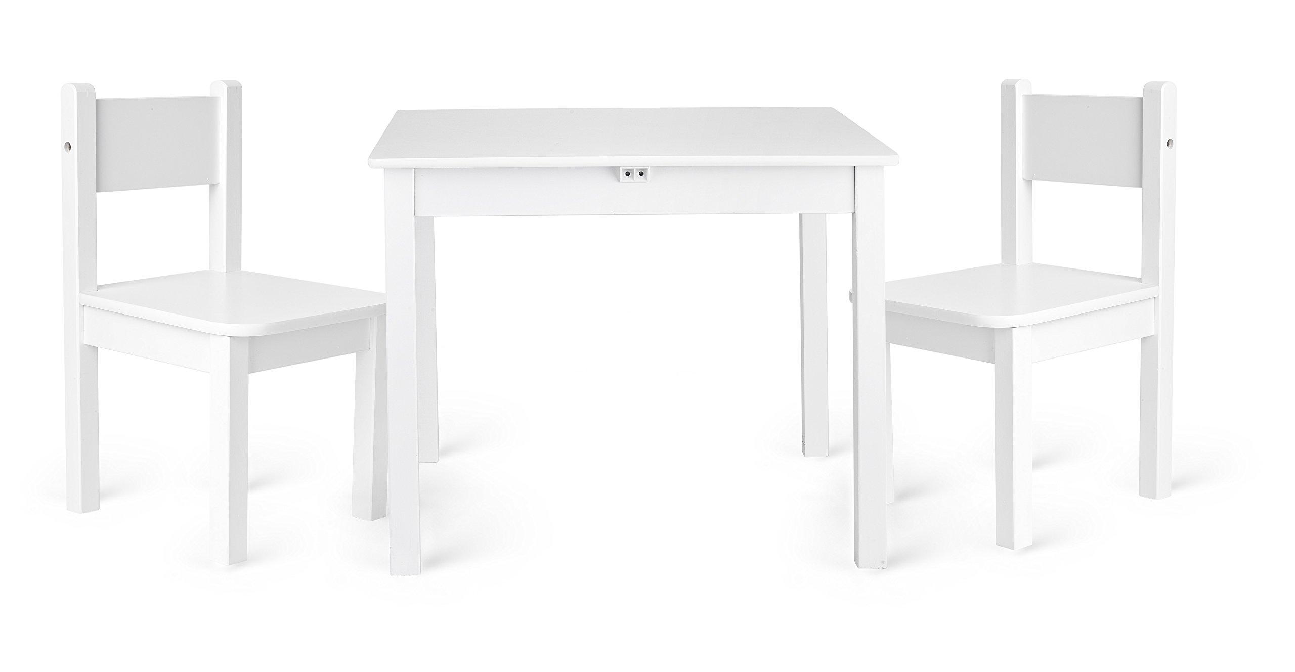 Leomark - Muebles Infantiles Para Cuarto de Los Niños - Conjunto de Una Mesa y Dos
