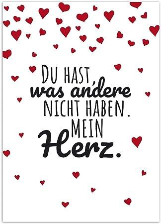 Postkarte Lieber Spruch Mit Herzen Moderne Karte Mit Umschlag Valentinstag Liebe Partner Hochzeit Jahrestag Paare Amazon De Burobedarf Schreibwaren