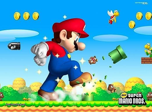 Amazon.com: Gigante Mario Hermanos NES ~ Comestible imagen ...