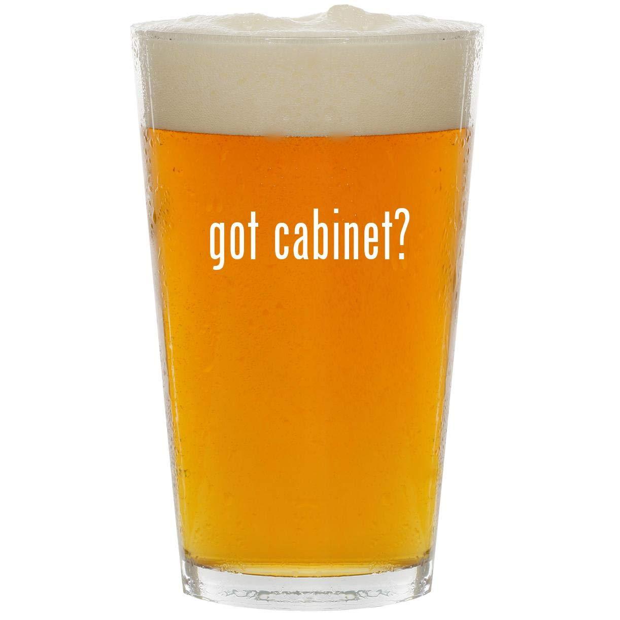 got cabinet? - Glass 16oz Beer Pint