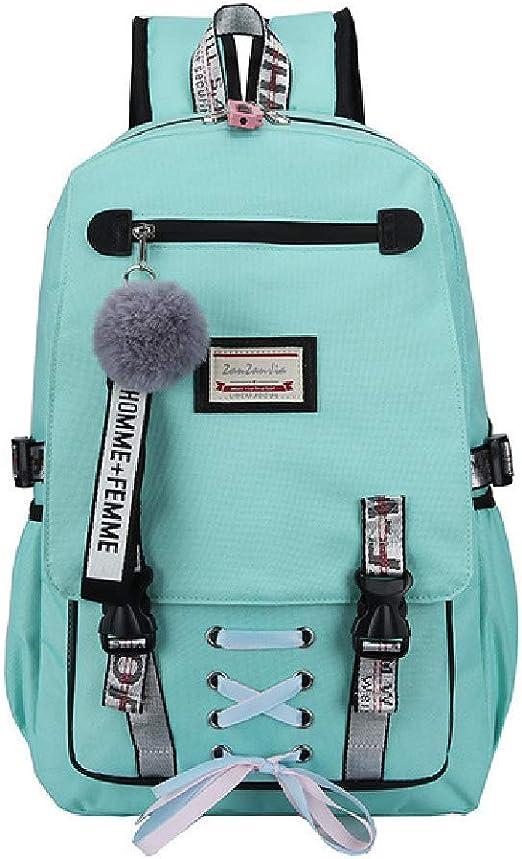 DWXX Backpack Green School Bags for Girls Women Bag for