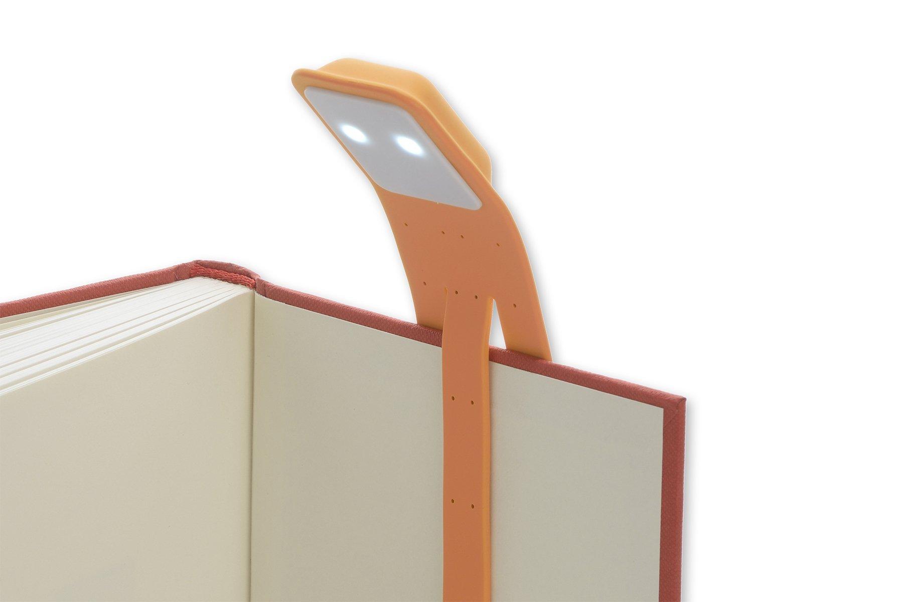 moleskine rechargeable booklight cadmium orange reading