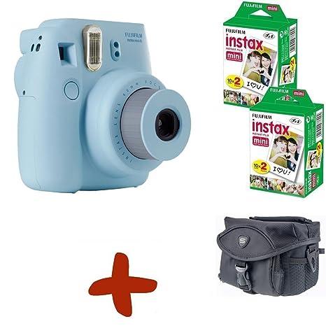 Fujifilm Fuji Instax Mini 8 Cámara analógica instantánea Azul + ...