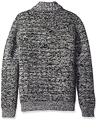 Calvin Klein Men's Lambswool Houndstooth Shawl Sweater