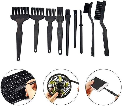 Anti-Static Brush 8Pcs 8Pcs//9Pcs Plastic Handle Nylon Anti Static Brushes Furniture Keyboard Cleaning Kit for Mobile Phone Tablet PCB BGA Repair Work