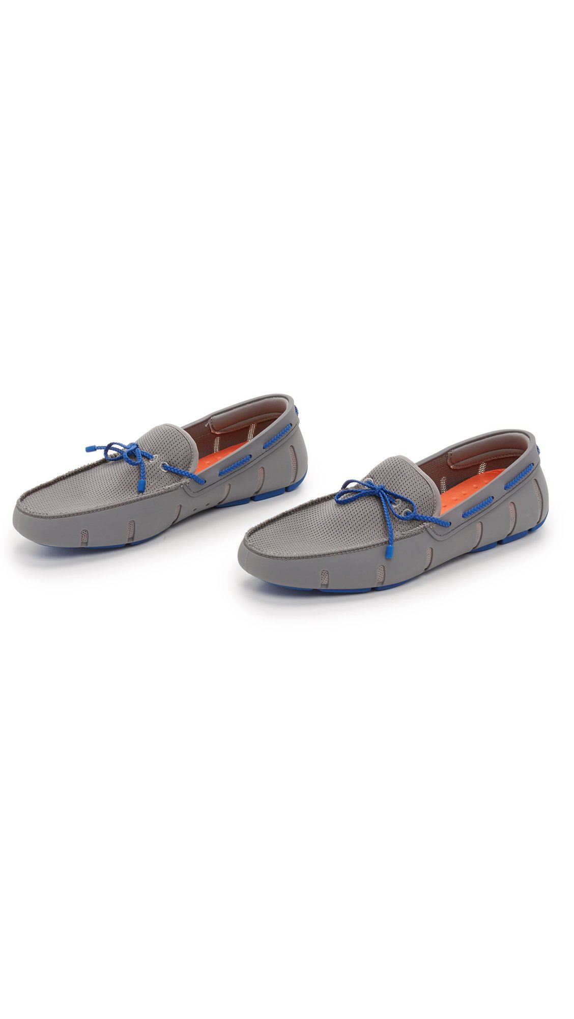 SWIMS Men's Braided Lace Loafers, Grey/Blue, 7 D(M) US by SWIMS (Image #5)