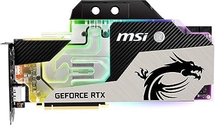 MSI GeForce RTX 2080 Ti SEA HAWK EK X - Tarjeta gráfica Enthusiast (11 GB GDDR6, 352-bit, RGB Mystic Light)