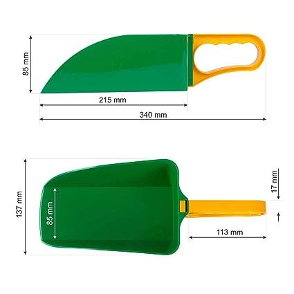 in plastica BOTT Pala graduata MEGA 2 kg blu//bianco paletta di misurazione per misurare alimenti e prodotti sfusi