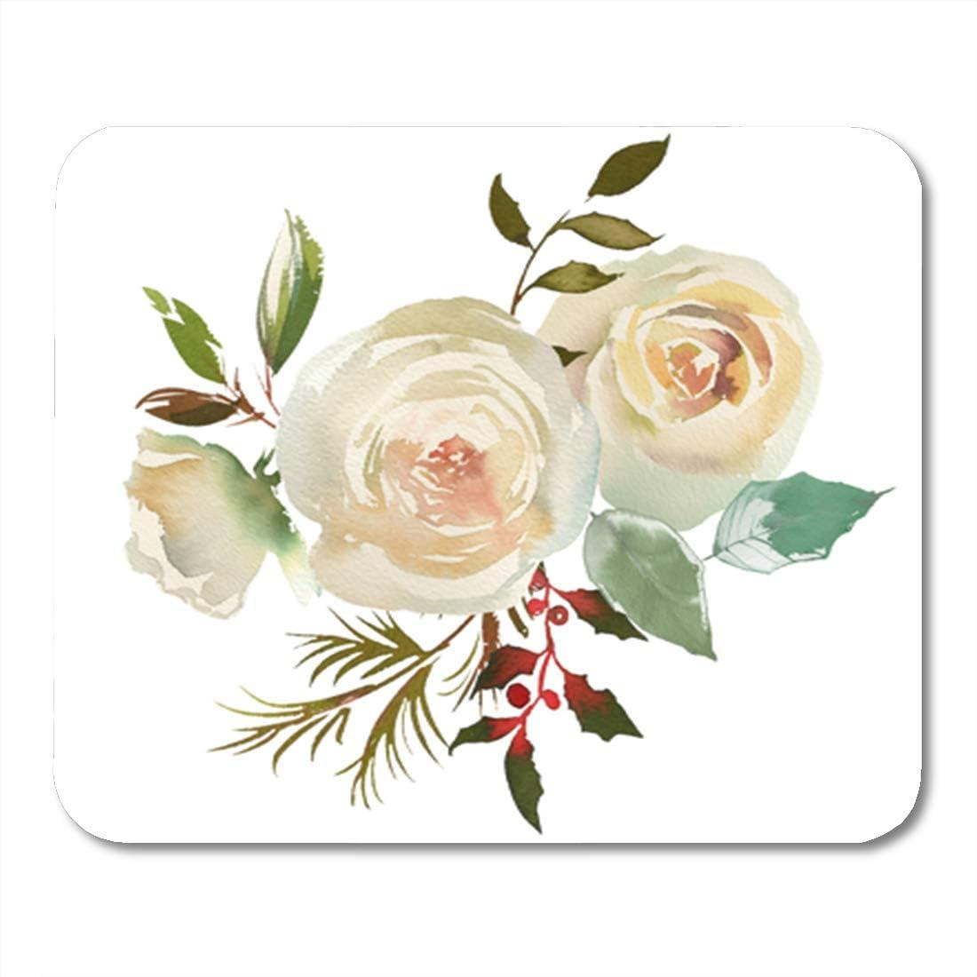 Amazon Com Semtomn Gaming Mouse Pad Watercolor Floral Bouquet