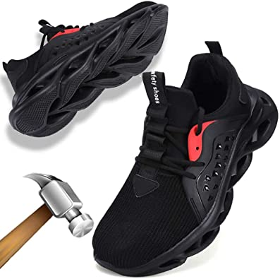 ziitop Mens Womens Steel Toe Shoes