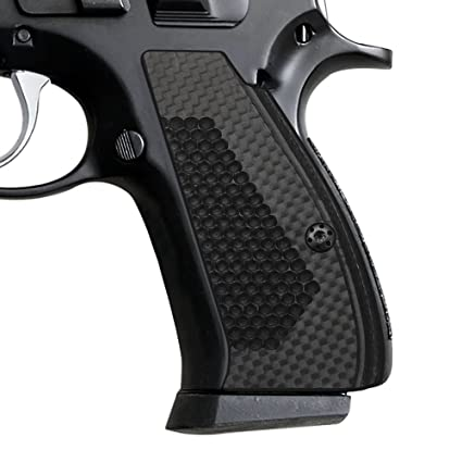 Cool Hand Carbon Fiber Grips for CZ 75/85 Compact, Free Screws included