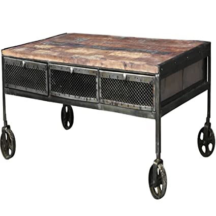 Coffee Table Legs With Wheels Rustic Legs Classic Tray Vintage Centerpieces  Decor Living Room Home Indoor