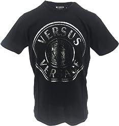 8012f5e49 Versus Versace Men t-Shirt Lion Head Nero - Argento