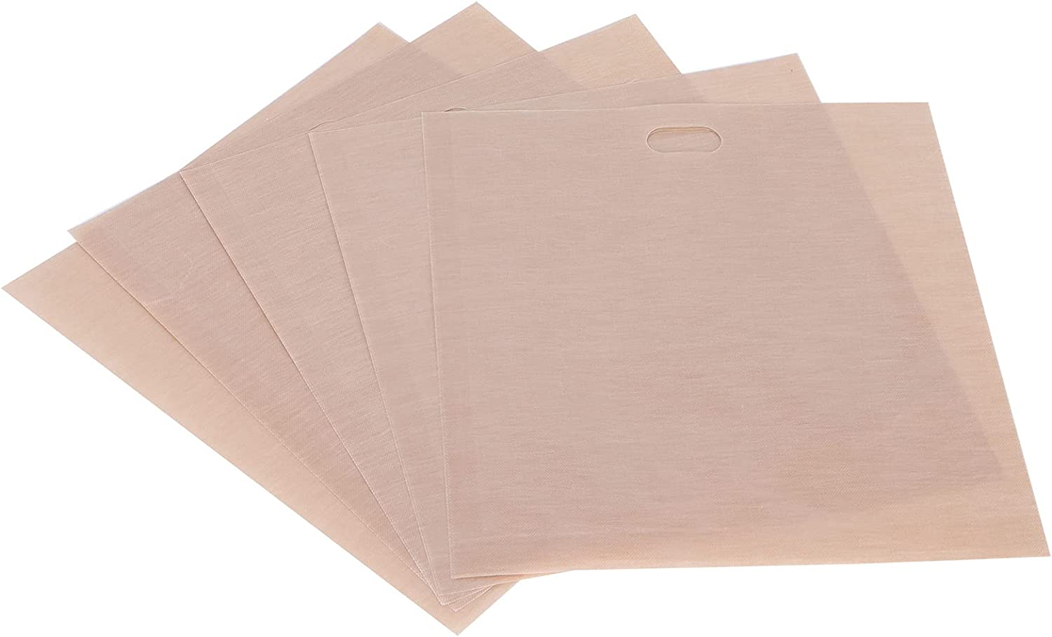 Eulbevoli Bags, Non‑Sticky Used Repeatedly Toaster Bags for Toaster for Oven Or Grill for Microwave(1618CM 5 Packs)