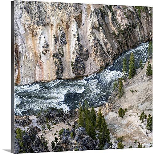 Rushing Yellowstone River, Yellowstone National Park Canvas Wall Art Print, 16