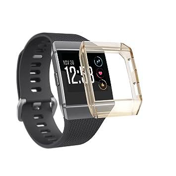 Para fitbit ionic protector TPU artificial ajustable reemplazo Sannysis Fitbit Ionic protector ligera fitbit ionic accesorios funda para pulsera de ...