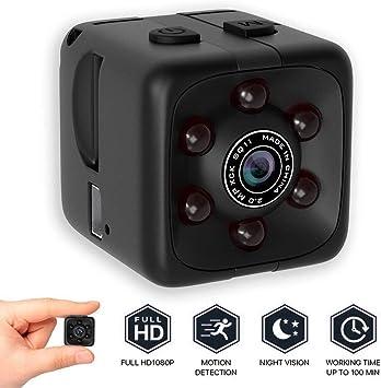 Opinión sobre bqmqolove Mini cámara de Seguridad Cámara de visión Nocturna 1080P Cámara portátil con Cubo HD Cámara de detección de Movimiento
