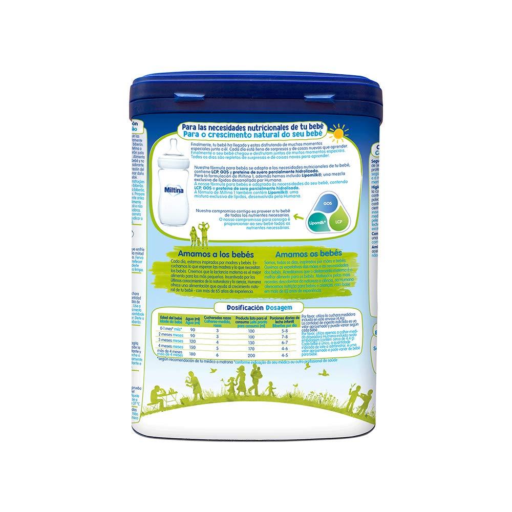 MILTINA 1 PROBALANCE, leche para lactantes desde el nacimiento, 750g: Amazon.es: Alimentación y bebidas