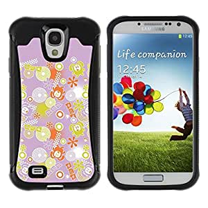 Paccase / Suave TPU GEL Caso Carcasa de Protección Funda para - Decoration Pink Yellow Pattern - Samsung Galaxy S4 I9500