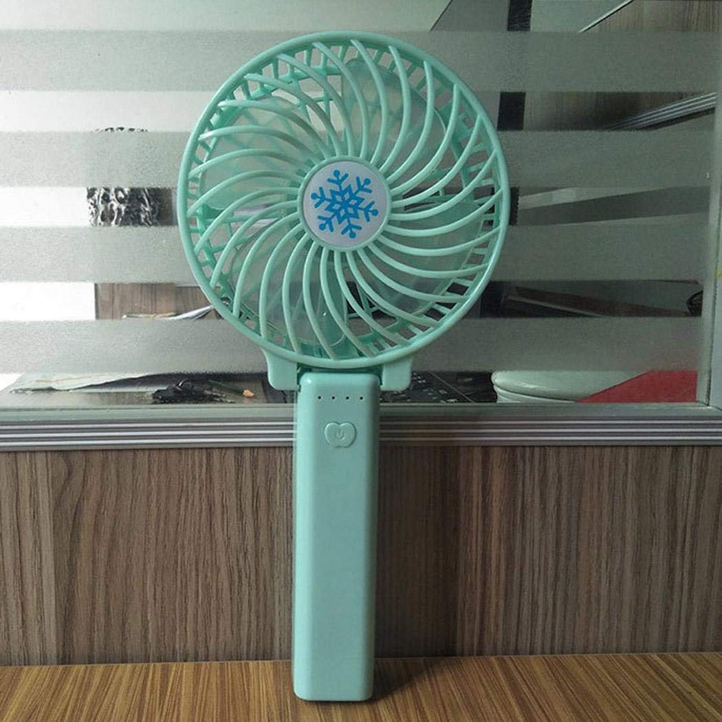 Kindsells Mini Handheld Fan Portable Rechargeable Travel Switch Fan Air Cooler With LED Light