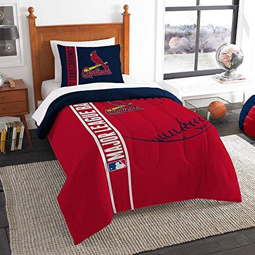 Northwest NOR-1MLB835000027BBB 64 x 86 St. Louis Cardinals MLB Twin Comforter Set, Soft & (Louis Cardinals Comforter)