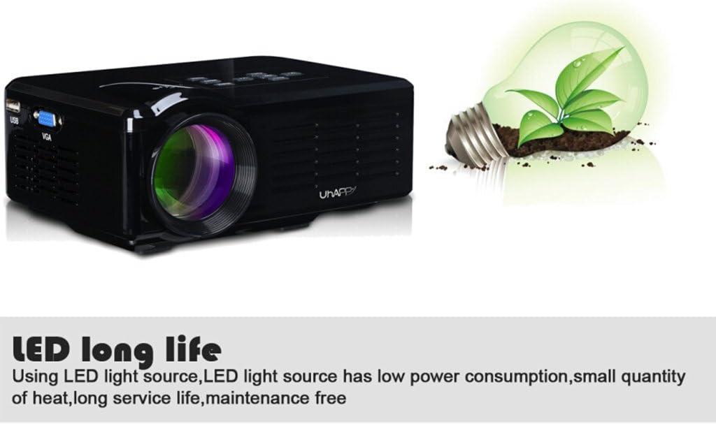 Uhappy BL35 - Mini Proyector Multimedia (30W, 800 Lumenes, LED ...