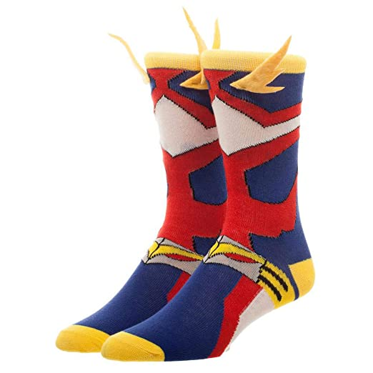 5520b7355 Image Unavailable. Image not available for. Color: Bioworld My Hero  Academia Cosplay Men's Crew Socks ...