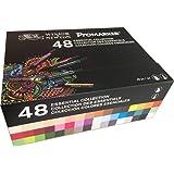 Winsor & Newton ProMarker Box mit 48 essentiellen Dual-Tip-Markern in verschiedenen Farben