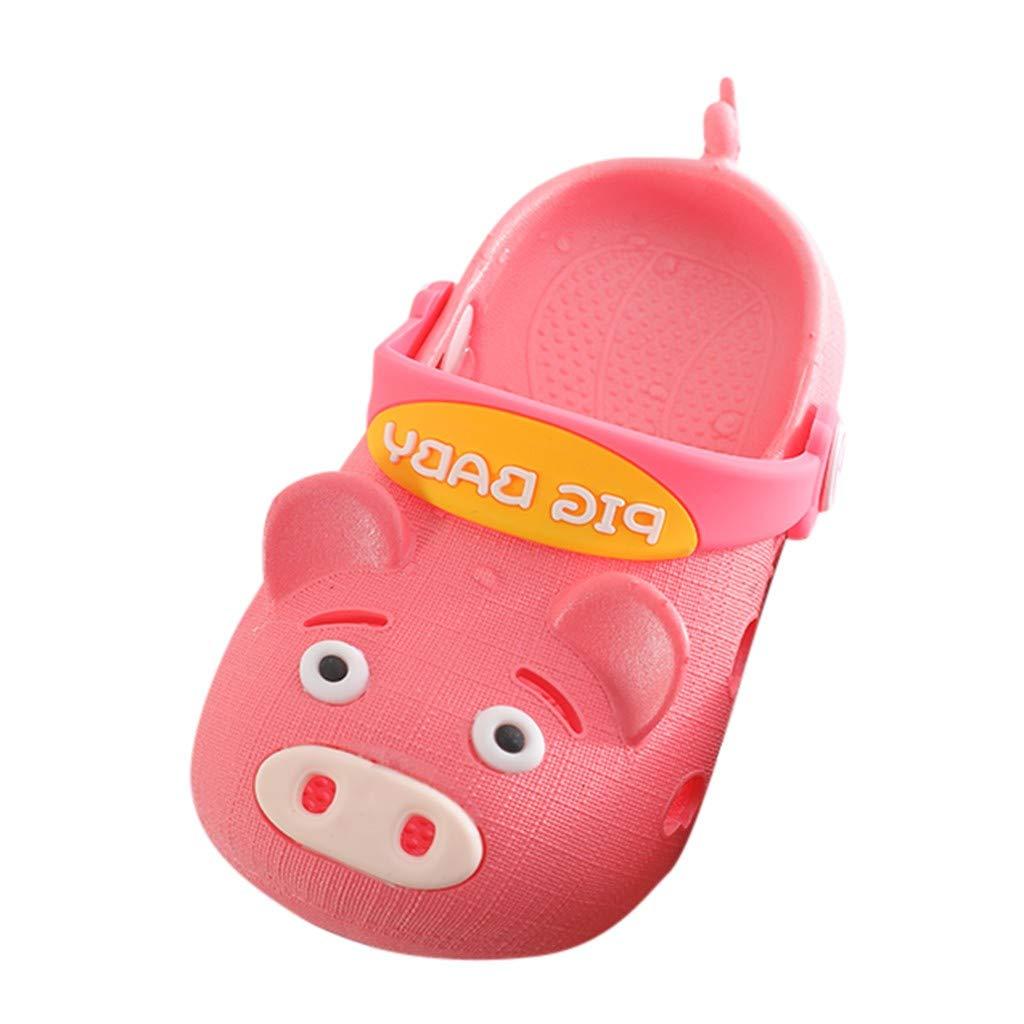 Sumen Cute/Baby Boys Girls Slippers Cartoon Pig/Soft/Beach/Sandals/Flip Flop Shoes