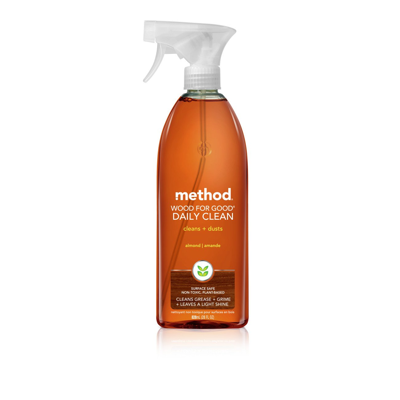 Method Wood for Good Daily Wood Cleaner, 28 Fl. Oz (Pack of 8) by Method