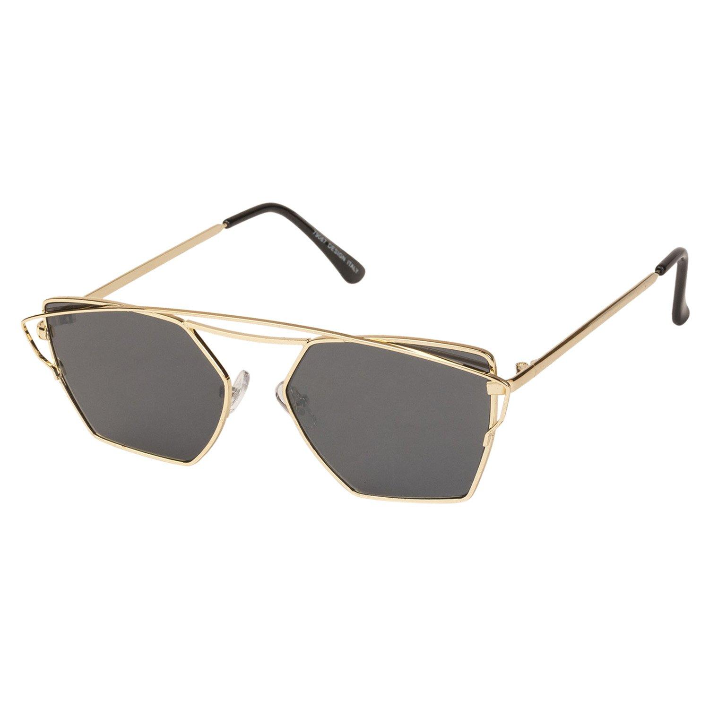 6e7adf3c7a VESPL Golden Full Rim Designer UV Protected Medium (Size-54) Sunglasses -  V-6721  Amazon.in  Clothing   Accessories