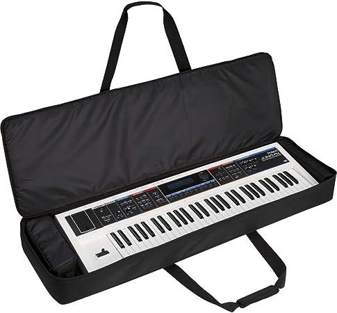 Kabalo Funda acolchada con teclado eléctrico protector negro de 61 teclas
