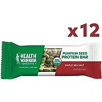 12-Count Health Warrior Maple Sea Salt Pumpkin Seed Bars