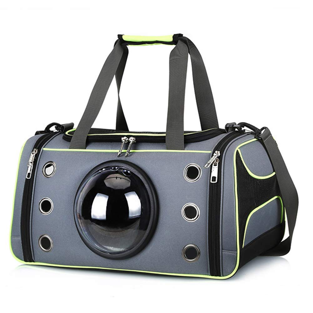Green L Green L MSQL Portable Pet Travel Carrier Backpack Space Capsule Bubble Design Handbag, Double Expandable Pet Dog Carrier for Outdoor Travel Walking Hiking