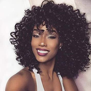 Amazon Com Aisi Hair Synthetic Curly Hair Wigs With Bangs
