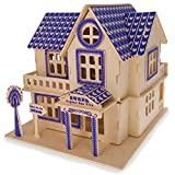 model houses to build - Family Home House Building Model Kit Wooden 3D Puzzle