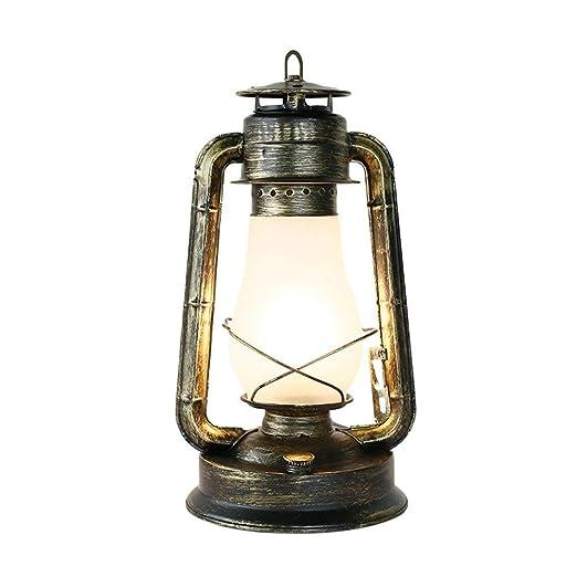 Vintage Linterna keroseno lámpara de Mesa luz de Escritorio ...