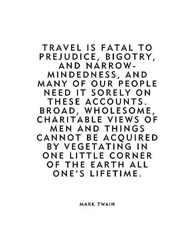 Amazon Mark Twain Travel Quotetravel Is Fatal To Prejudice