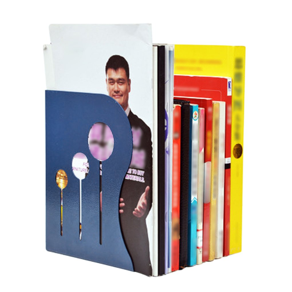 Cataloghi allungabile Portariviste porta riviste con 3 scomparti funzionale Fermalibri Organizer da scrivania per ufficio e scuola Blau jijianzhongqing
