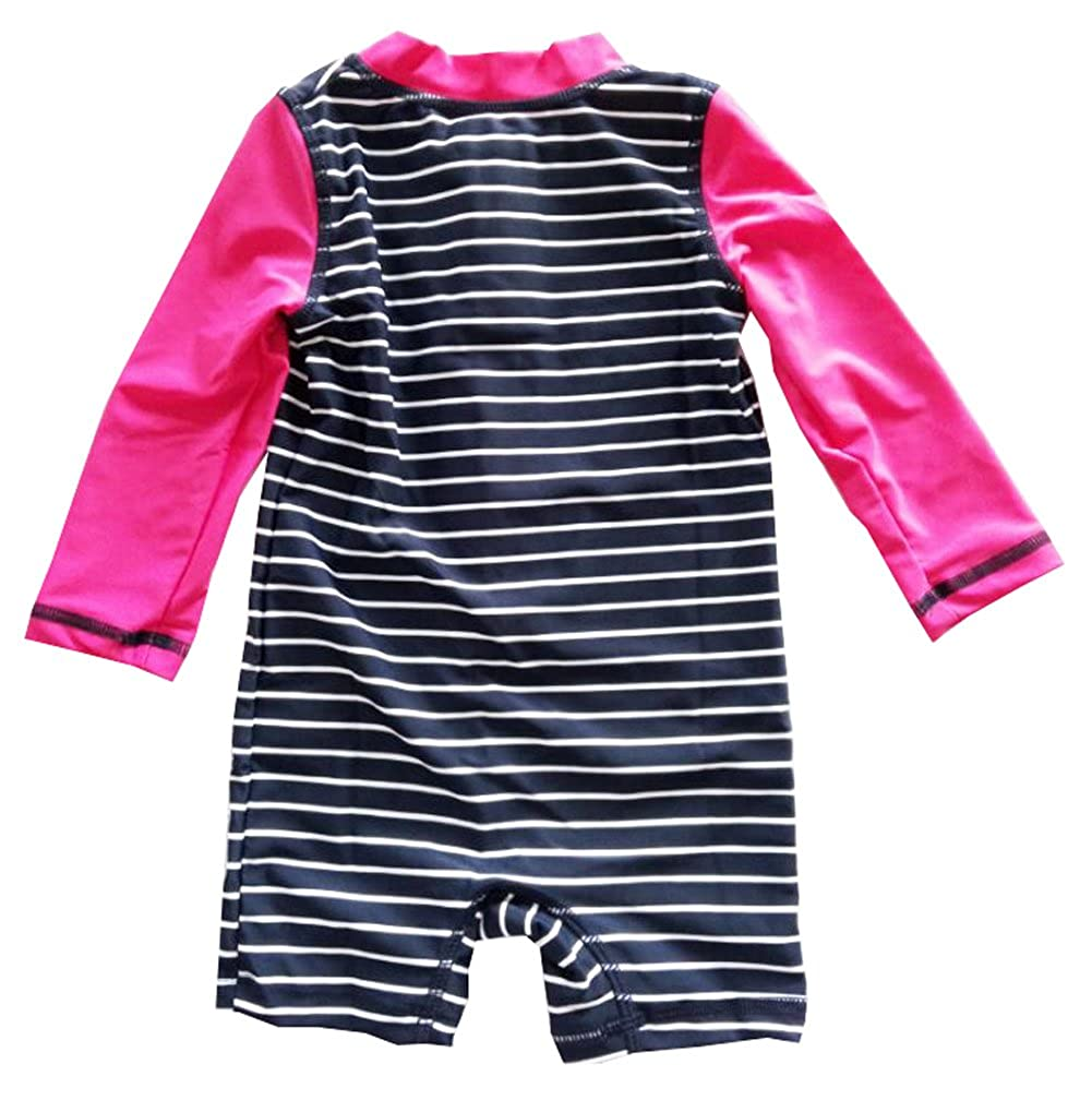 Infant Baby Girls One Piece Sunsuits Striped Anchor Swimwears
