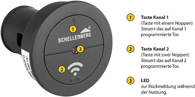 Schellenberg 60932 Garagentor Fernbedienung Funk Autosender Smart Drive 2 Kanal 868 4 Mhz Tor Aus Dem Auto öffnen Baumarkt