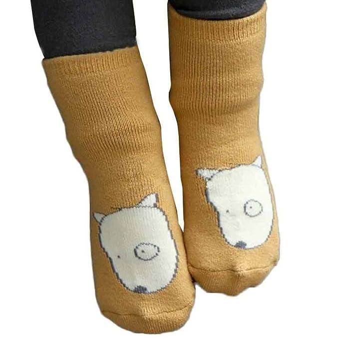 K-youth® Bebé Niños Niñas Cabeza de zorro patrón Calcetines calientes antideslizantes: Amazon.es: Ropa y accesorios