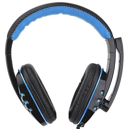 Morehappy7 - Auriculares USB para videojuegos, auriculares cómodos con micrófono y micrófono, con cable