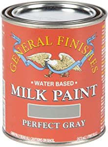 General Finishes Water Based Milk Paint, 1 Pint, Perfect Gray