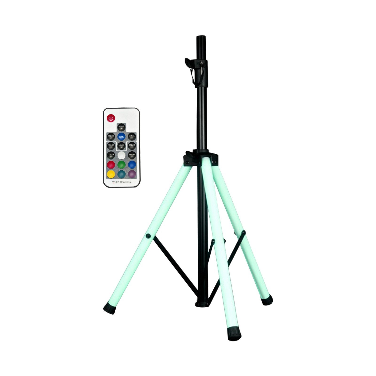 American Audio LED color changing tripod leg speaker stand with remote by American Audio