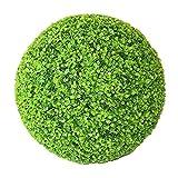 Yunhigh Artificial Plant Ball Decorative Boxwood Simulation Grass Ball Plastic Greenery Globe Green for Wedding Shopping Mall Christmas Home Decor(2pcs, 22cm)